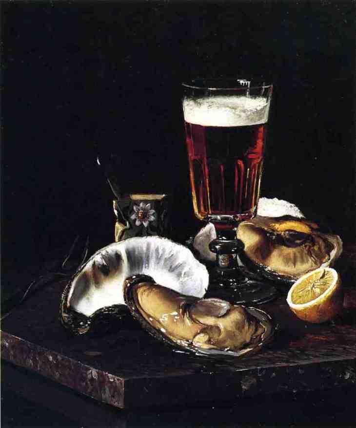 Νεκρή φύση με μπύρα και στρείδια - Andrew JH Way