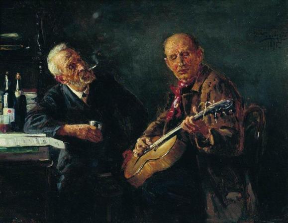 οι φίλοι -Konstantin Makovsky 1895