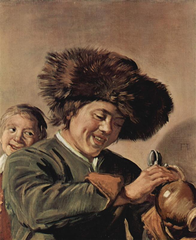 Δύο αγόρια γελάνε με μια κούπα μπύρα - Frans Hals 1626