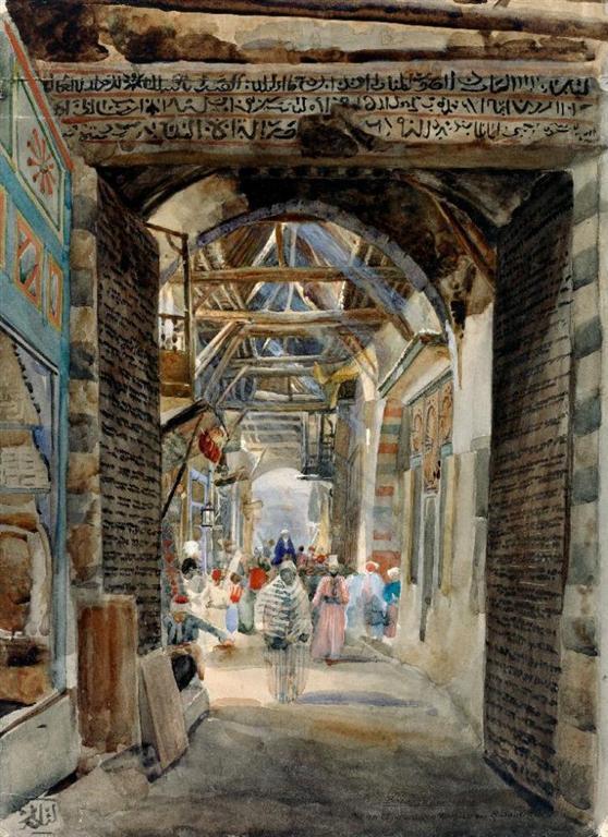Παζάρι στη Δαμασκό - Gustav Bauernfeind