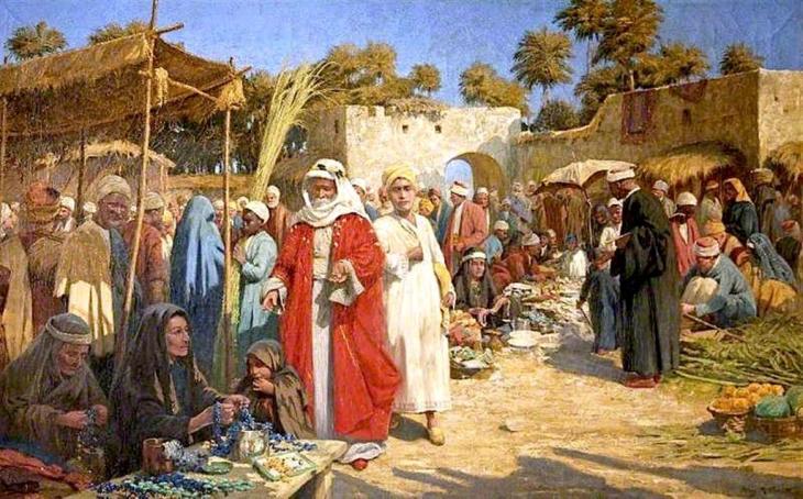 Σε μια αγορά στη Δαμασκό, - Percy Robert Τέχνη - 1919-1920