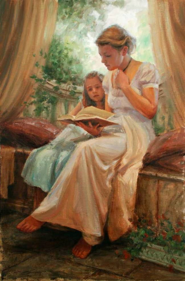art-friday-mothers-reading-to-their