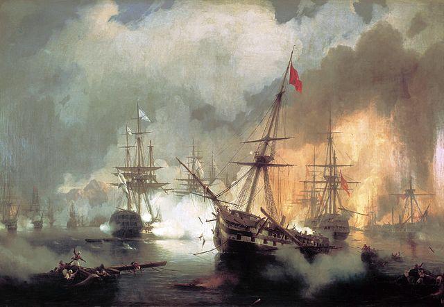 Η Ναυμαχία του Ναυαρίνου, Ιβάν Αϊβαζόφσκι - 1846