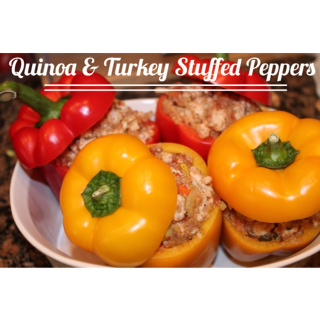 Healthy Quinoa Turkey Stuffed Peppers