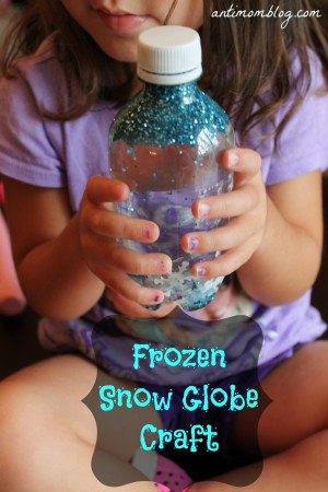 Frozen Snow Globe Craft For Kids