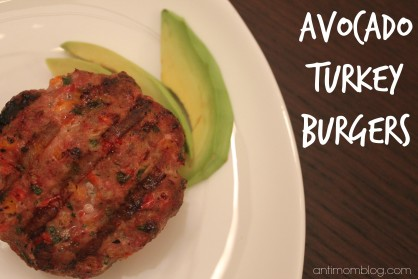 Avocado Turkey Burgers {21 Day Fix Approved}
