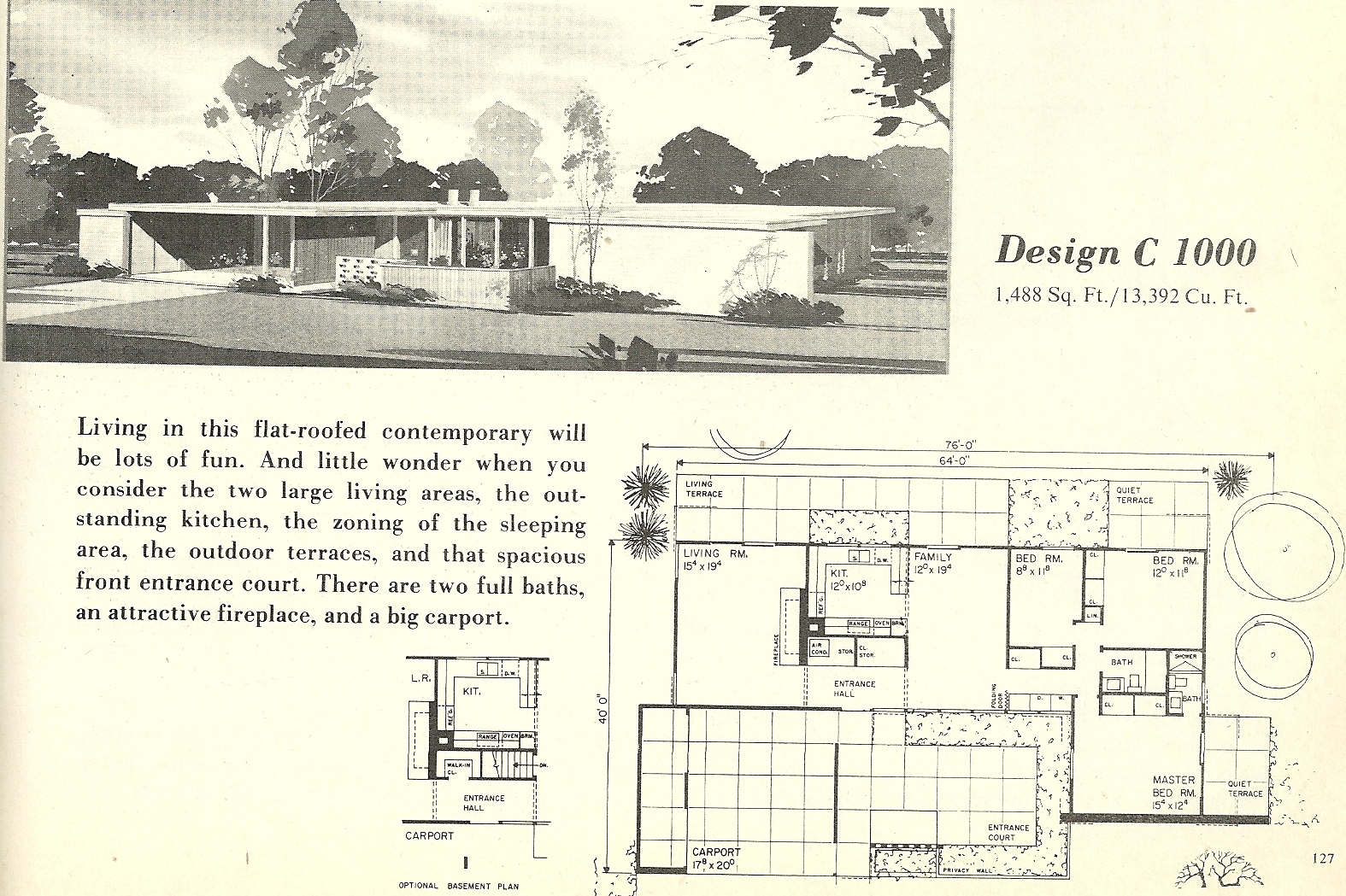 Showy In Vintage House Plans Mid Century Beauties Vintage House Plans Alter Ego Original Mid Century House Plans Mid Century House Plans Photos houzz 01 Mid Century Modern House Plans