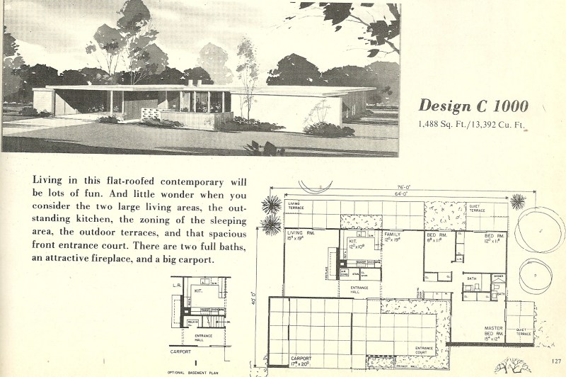 Large Of Mid Century Modern House Plans
