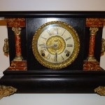 RARE-ANTIQUE-CARVED-WOOD-Ingraham Clock