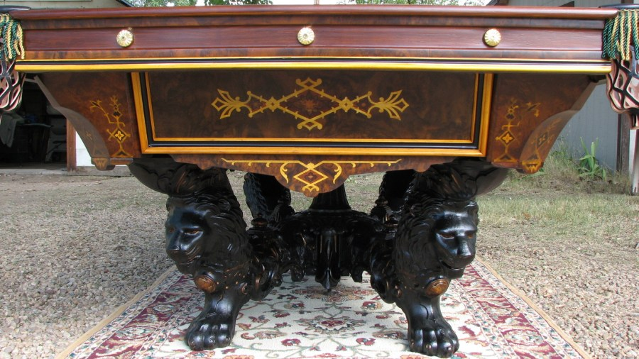 Antique brunswick pool table antiques of america and for Antiques and collectibles for sale