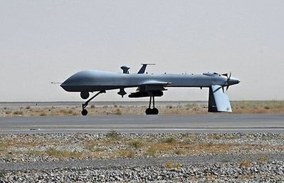 US Predator unmanned drone armed, pictured