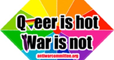 Pride Sticker 2013 - Queer is Hot War is Not
