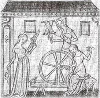 A roda do tear, a roda da vida.