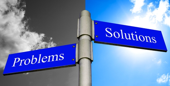 placa indicando problemas e soluções