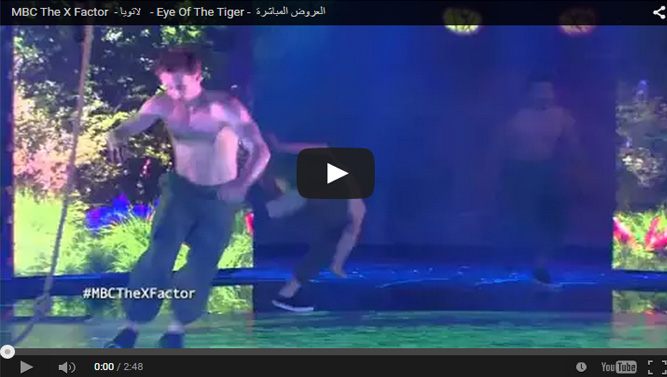 اكس فاكتر - لاتويا - Eye Of The Tiger - العروض المباشرة