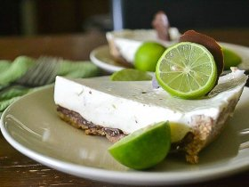 Chocolate-coated Key Lime Pie An Unrefined Vegan