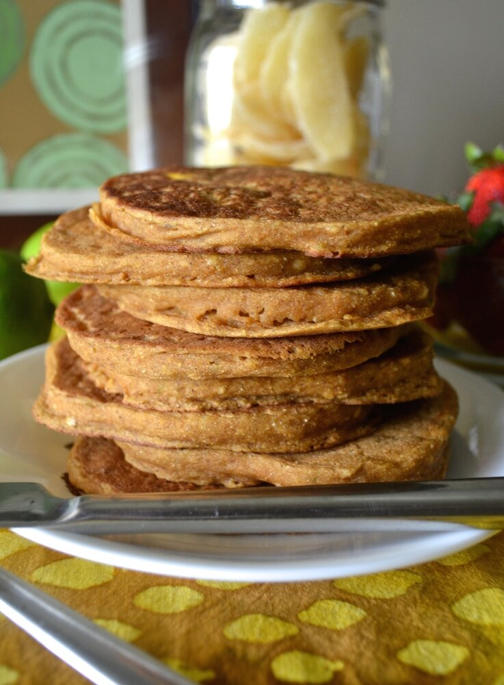 Mango Lime Pancakes with Ginger & Coconut. Sugar- & Oil-free ...