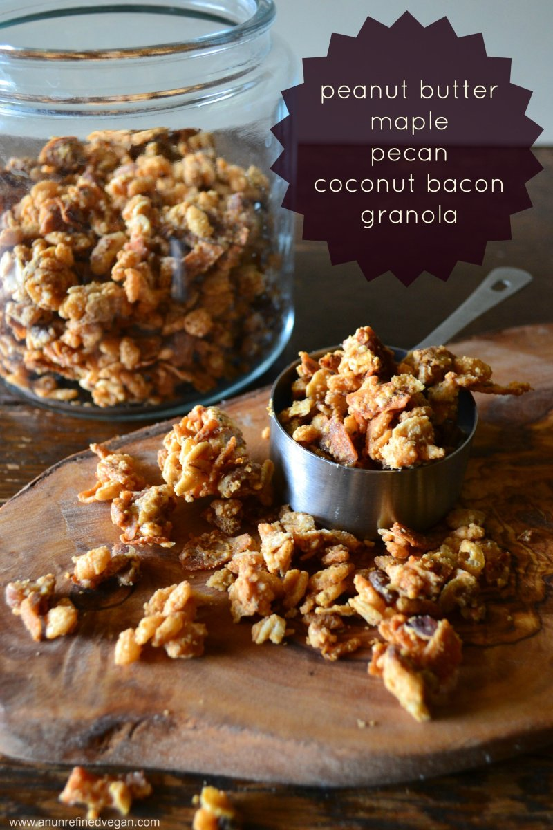 Peanut Butter-Maple-Pecan & Coconut Bacon Granola
