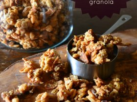 pb maple pecan coconut bacon granola