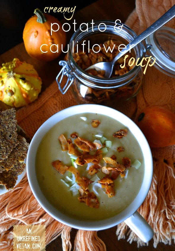 Creamy Potato & Cauliflower Soup