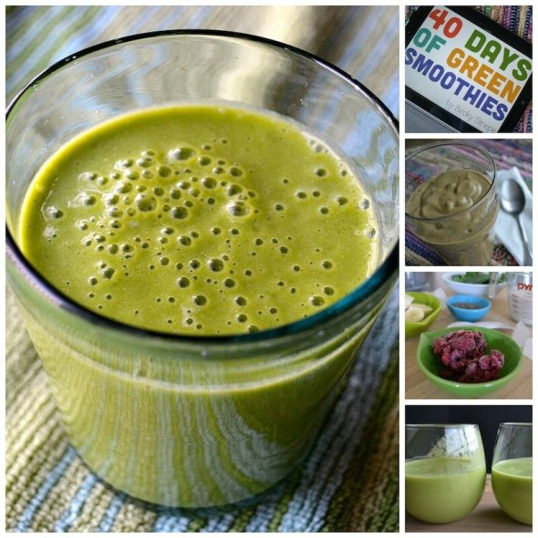 40 Days of Green Smoothies An Unrefined Vegan