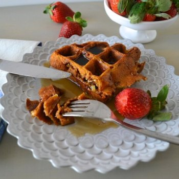 Pumpkin Apple Pecan Pie Waffles An Unrefined Vegan