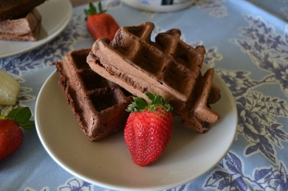 Mexican Chocolate Waffles An Unrefined Vegan