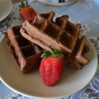 Beer with Breakfast: Mexican Chocolate Waffles