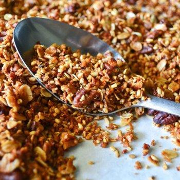 Bourbon Pecan Granola An Unrefined Vegan