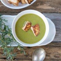 Three Days of Matcha: Creamy Greens Matcha Soup with Tofu Croutons