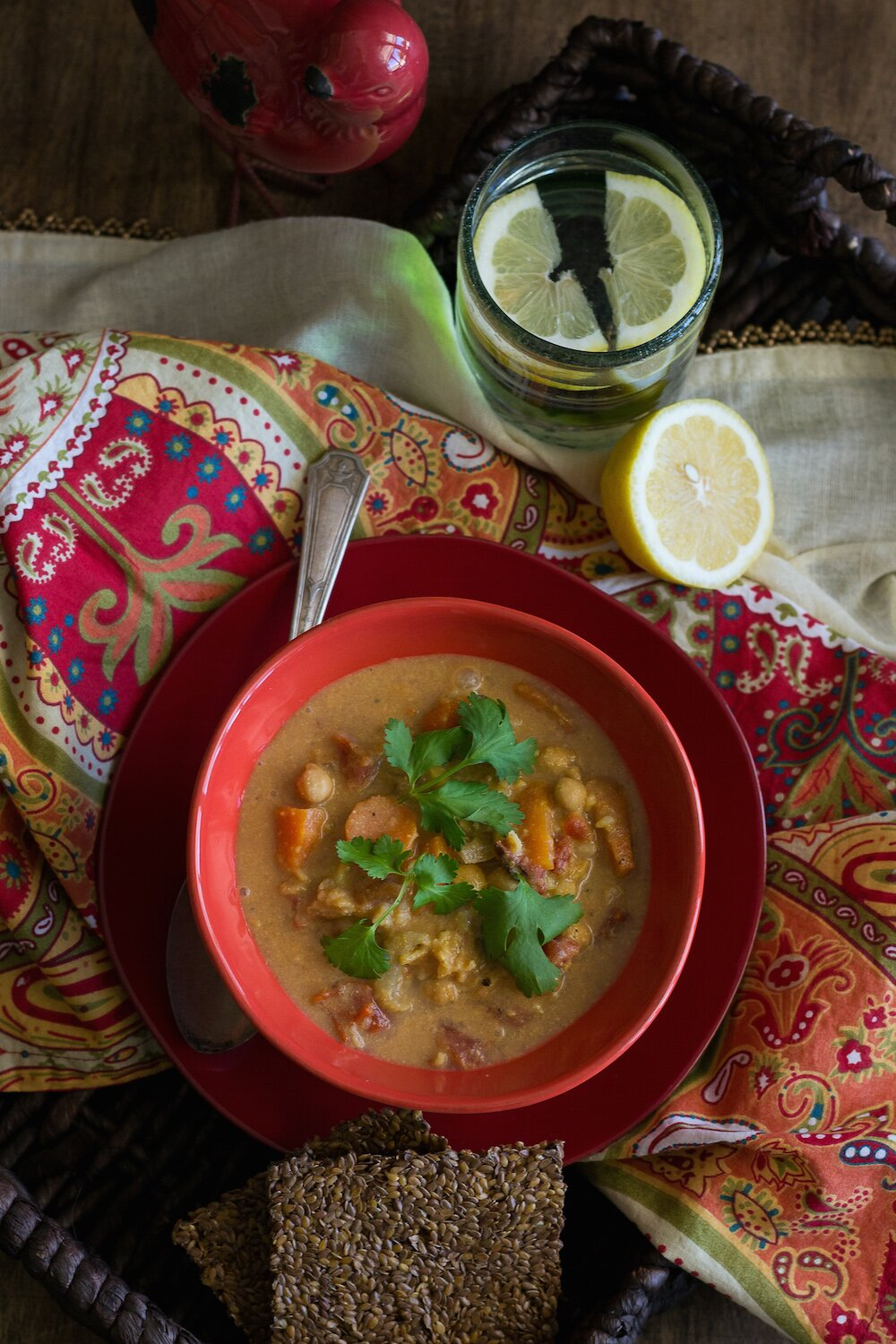 Spicy Chickpea & Brown Rice Soup