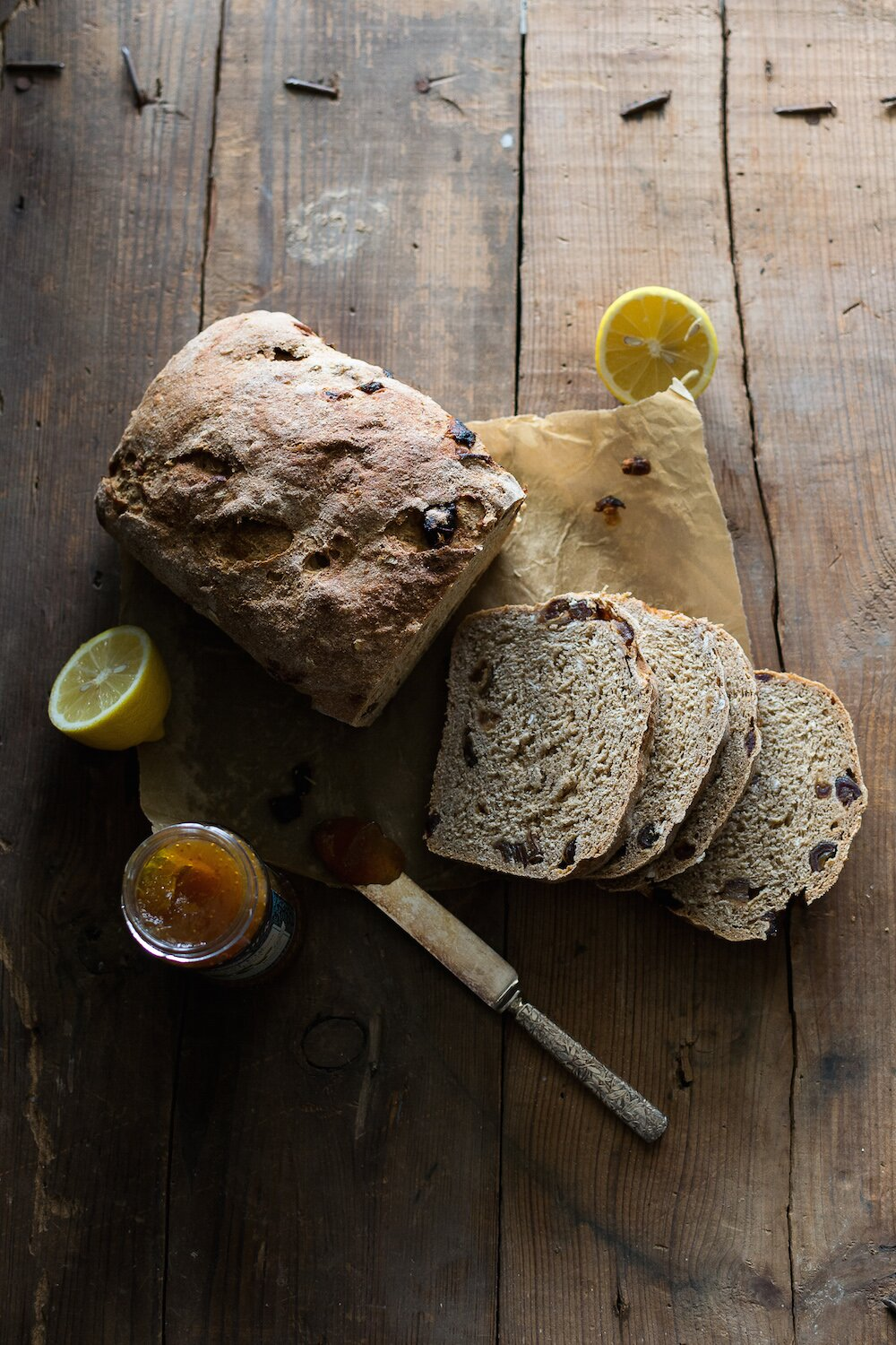 Whole Wheat Lemon Date Loaf