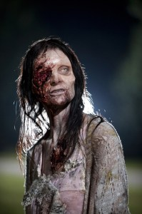 I bet she's keeping her eye out for the zombie apocalypse!! Sorry.