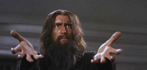 Lee as RASPUTIN THE MAD MONK - and he met the real one's assassins!