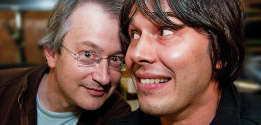Robin Ince and Brian Cox in the Infinite Monkey Cage
