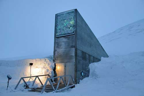 Entrance to the seed vault