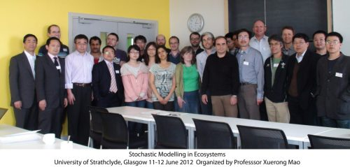 Stochastic Modelling in Ecosystems - University of Strathclyde - 2012 - Group Photograph