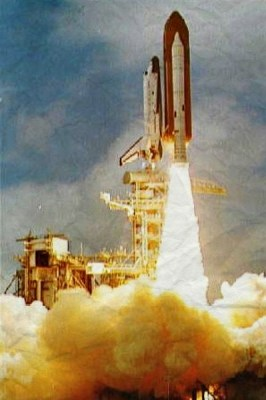 STS-3 Shuttle mission launching