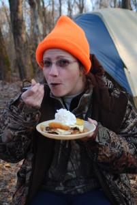 deer camp EPR Dian eating