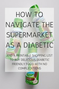 How to navigate the supermarket as a diabetic