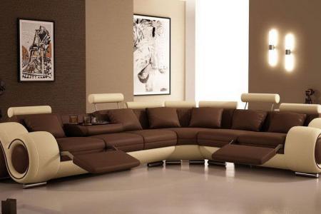 modern brown living room painting idea