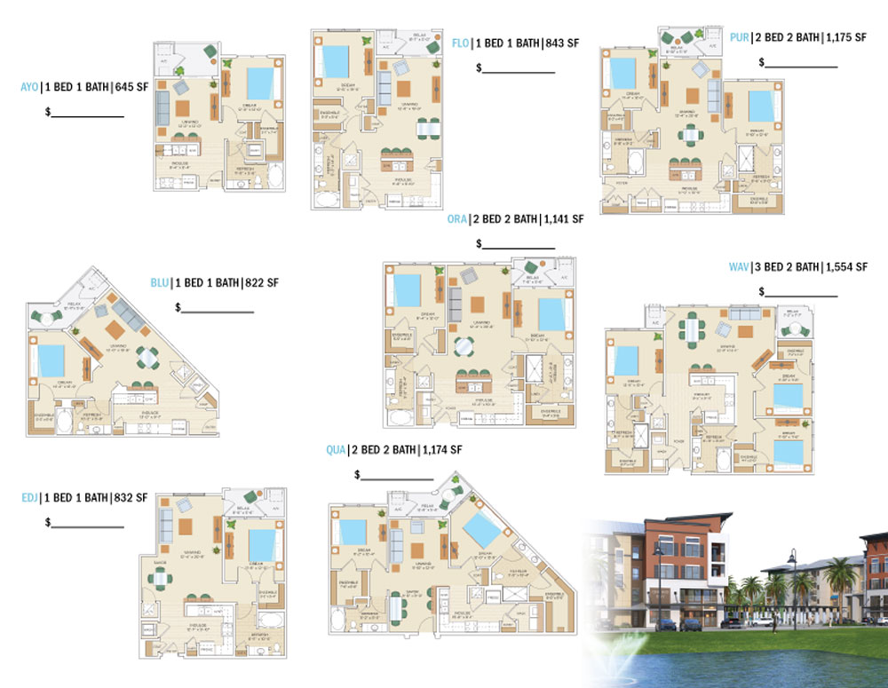 Apartment Tri Fold Brochure Samples Brochures  Ancora   Inside