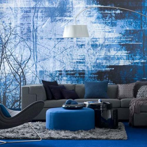 Modern-and-Vintage-Blue-Living-Room-Color-Ideas