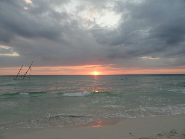 jamaica beach sunset