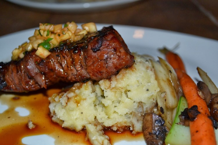 steak and mashed potatoes in maui