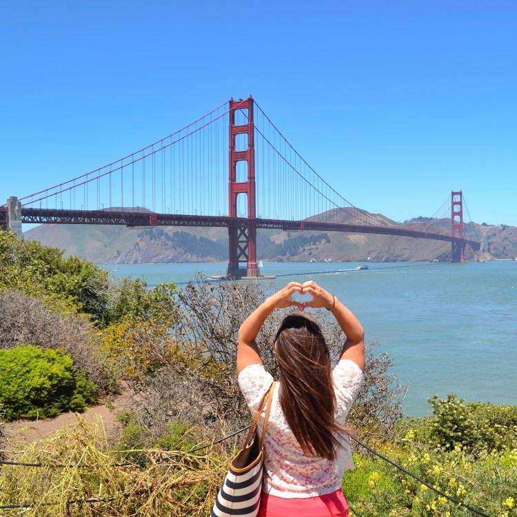 california love golden gate bridge