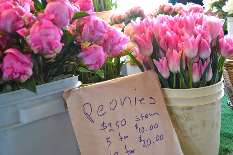 peonies pike place seattle