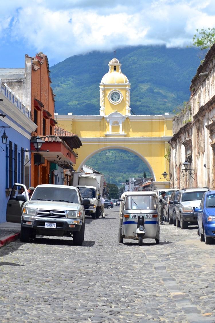 yellow arch antigua guatemala