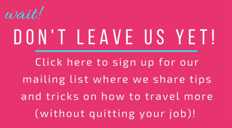 Have a full time job and want to travel more?! Learn how by signing up to the newsletter here >> http://apassionandapassport.us12.list-manage1.com/subscribe?u=e5a8632a6db65016413d0503d&id=1899fbe476