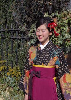 卒業式ヘアメイク袴の着付け4